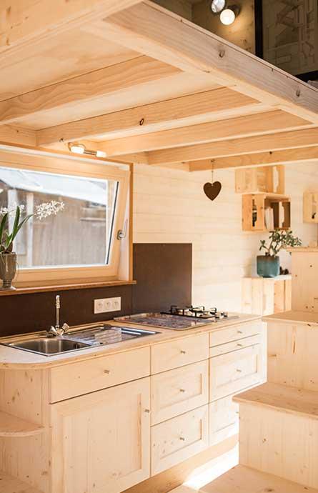 Cuisine fonctionnelle d'une Tiny House